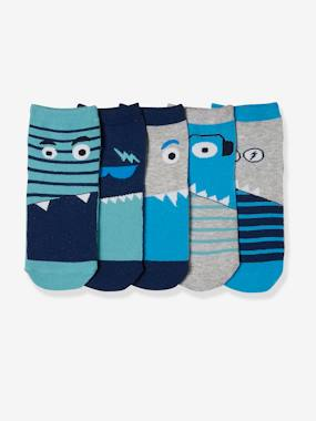 Pack of 5 Pairs of Socks for Boys blue